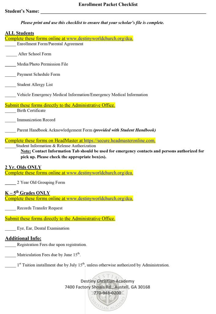 Enrollment_Packet_Checklist